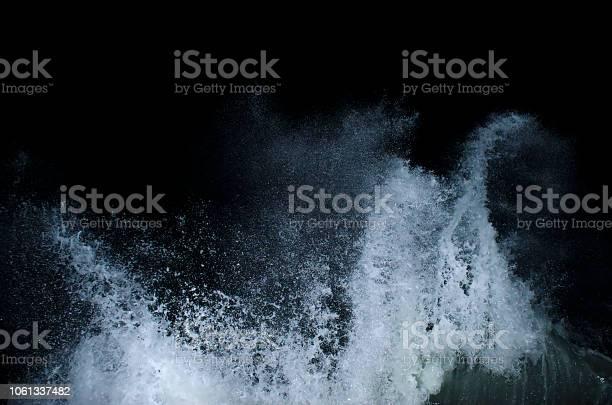 Photo of Splashing wave on the Black sea.