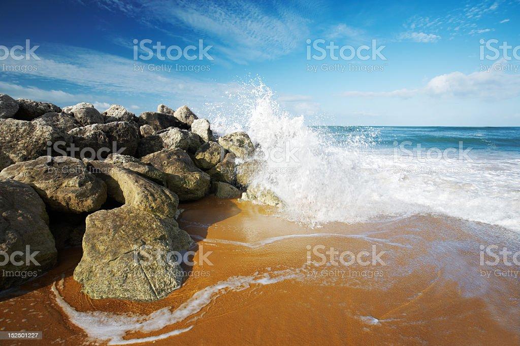 Splashing wave stock photo