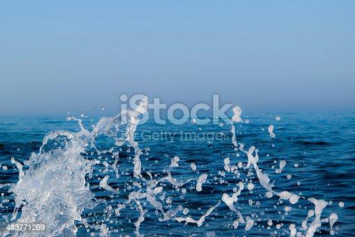 istock Splashing wave . 483771269