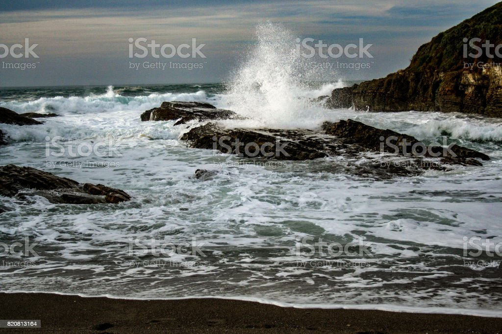 Splashing wave stock photo
