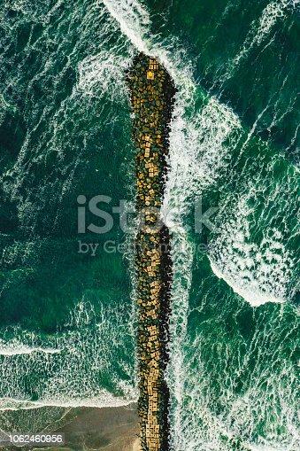 Splashing waves high angle view of rippled water