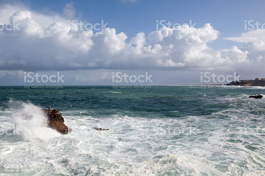 Splashing waves stock photo