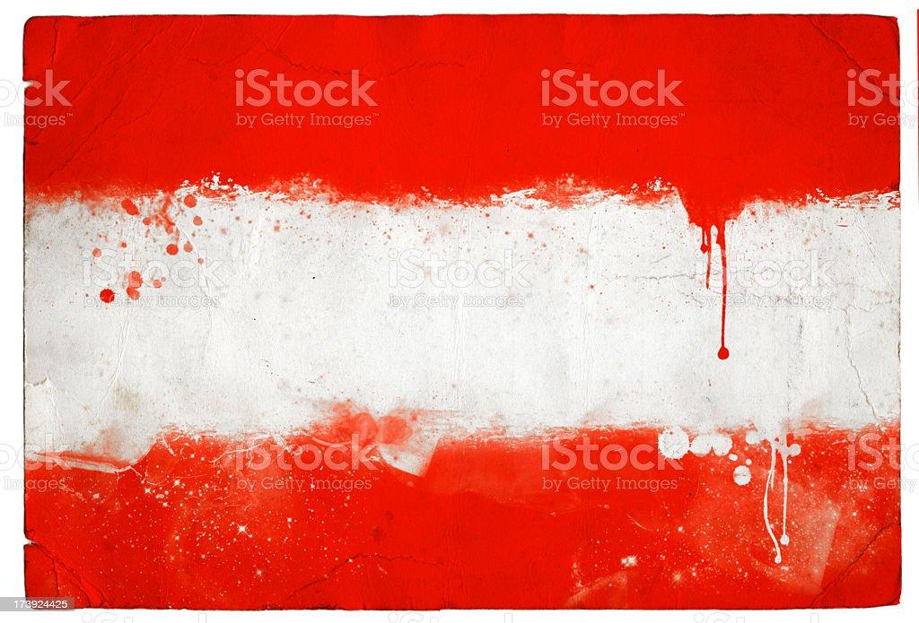 Splatter Austrian Flag royalty-free stock photo