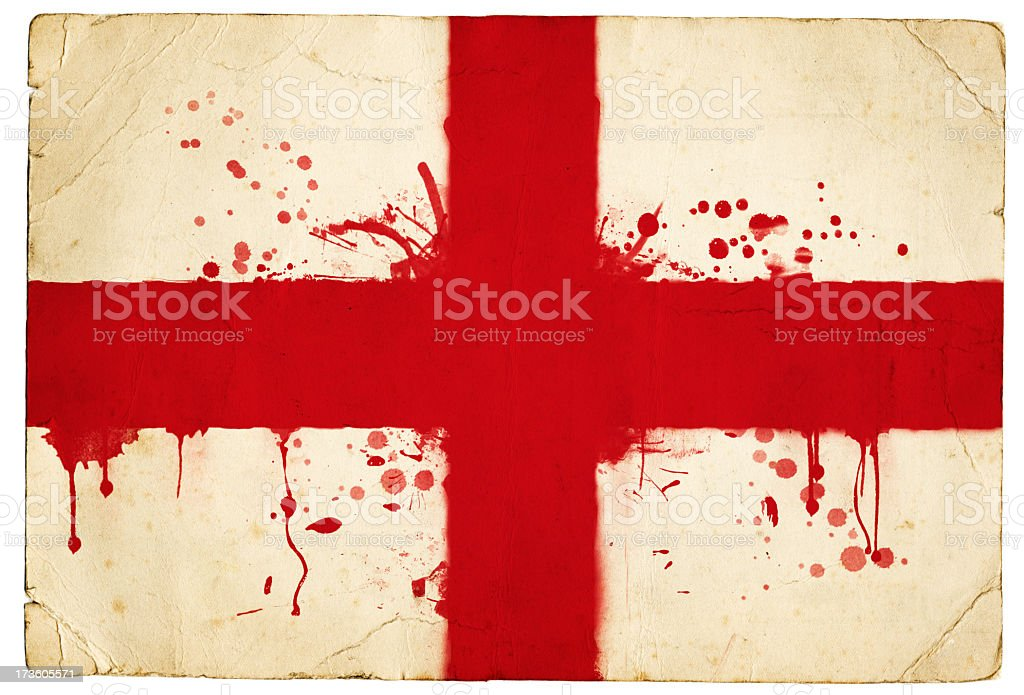 Splatter english flag royalty-free stock photo