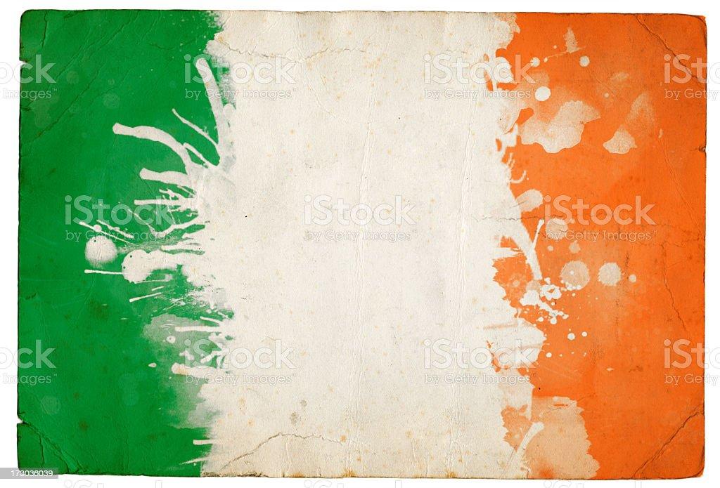 Splatter Irish Flag stock photo