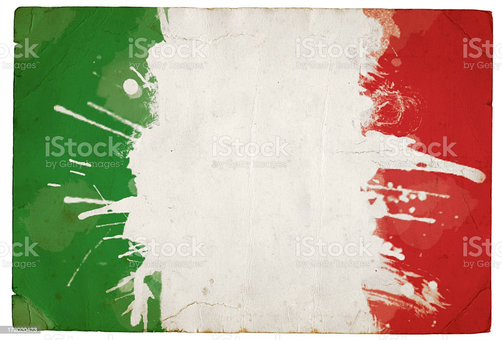 Splatter Italian tricolour stock photo