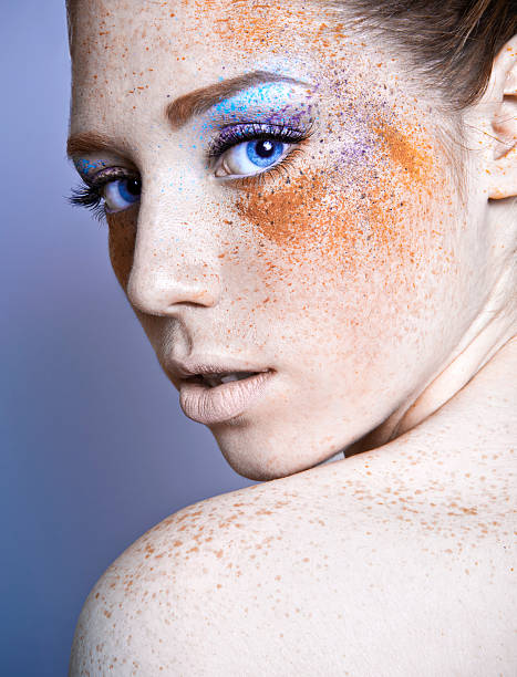 Redhead Freckles Nude Stock Photos, Pictures & Royalty