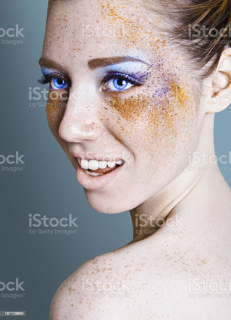 Splatter Makeup royalty-free stock photo