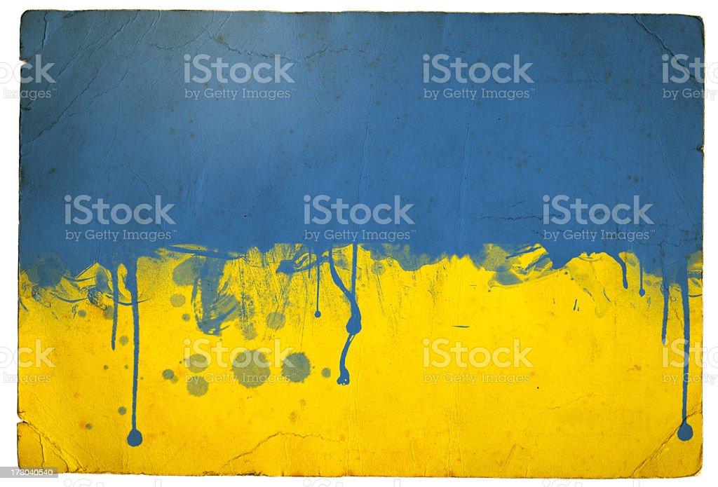 Splatter Ukraine flag royalty-free stock photo