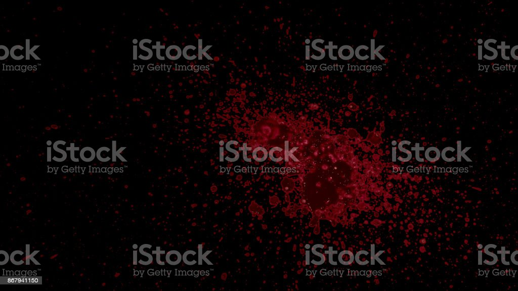 Splattered Blood Element stock photo
