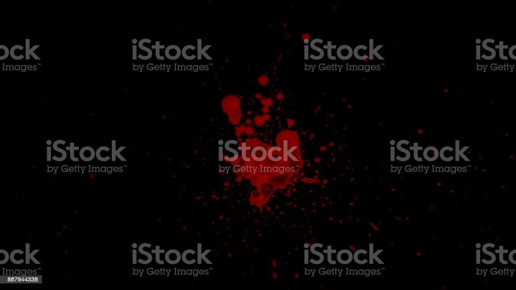 Splattered Blood Element stock photo