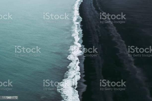 Photo of Splendid black sand beach in Vik, Iceland