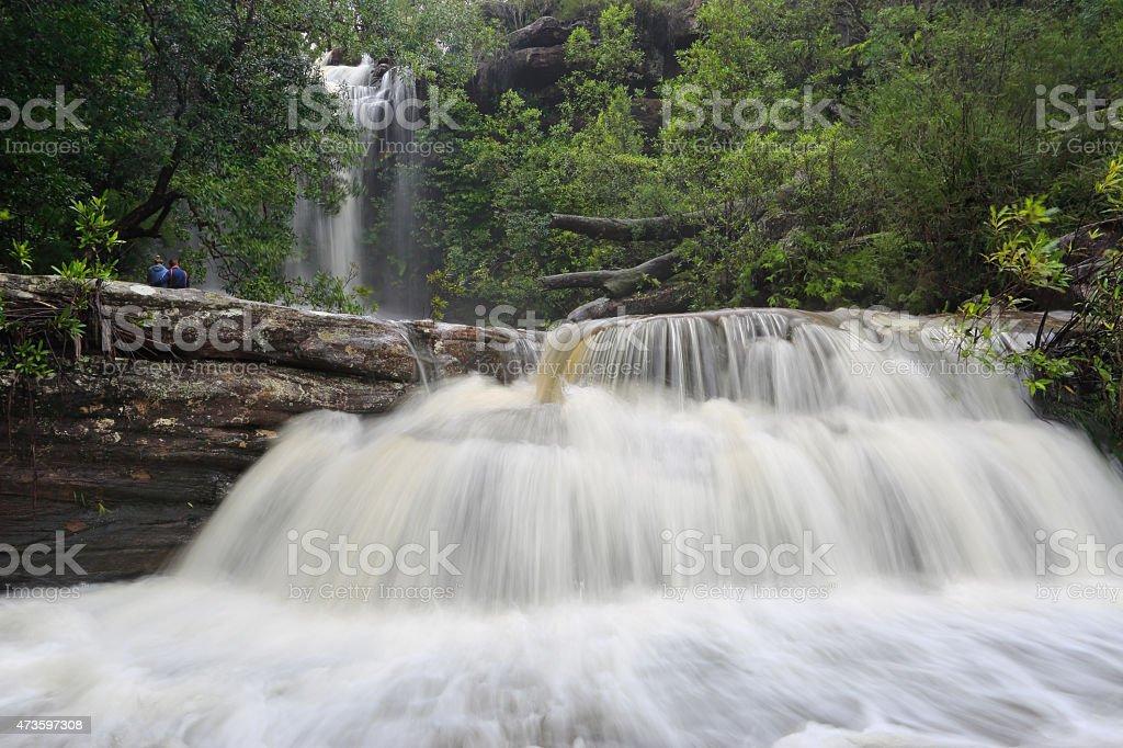 Splendour of a Waterfall stock photo