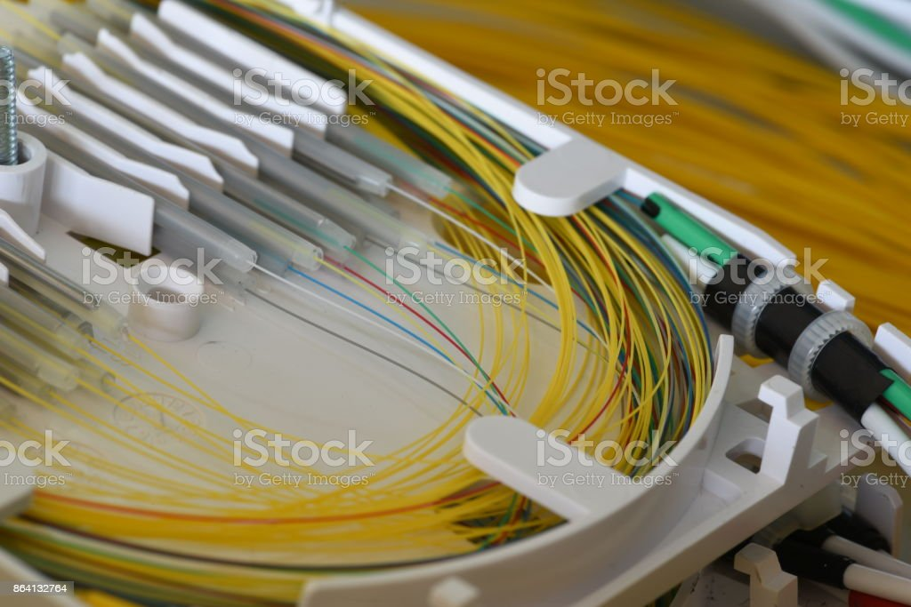 Splicing the fibers on spice tray royalty-free stock photo