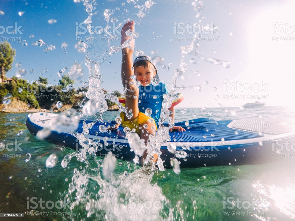 Splish-splashing stock photo