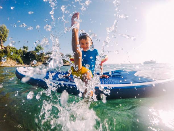 Splish-splashing stock photo