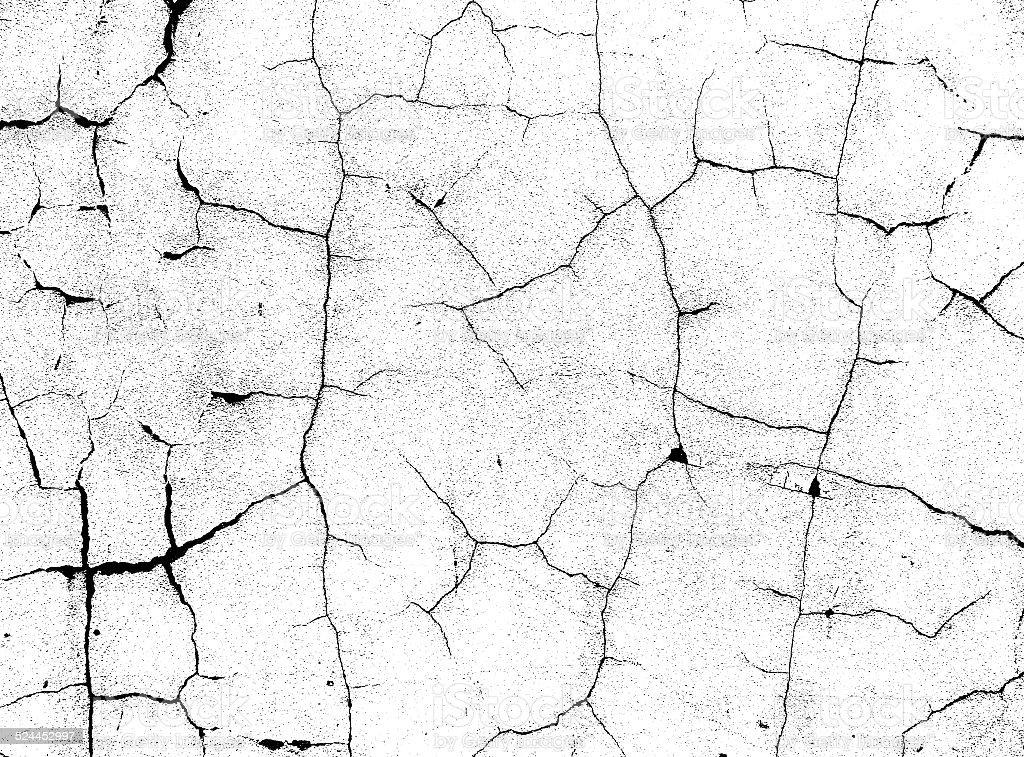 Split Black Crack Pattern On White Bump Alpha Map Stock