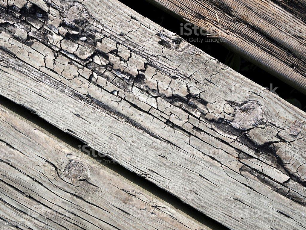 Split, cracked wood stock photo