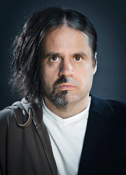 Split Faced Man stock photo