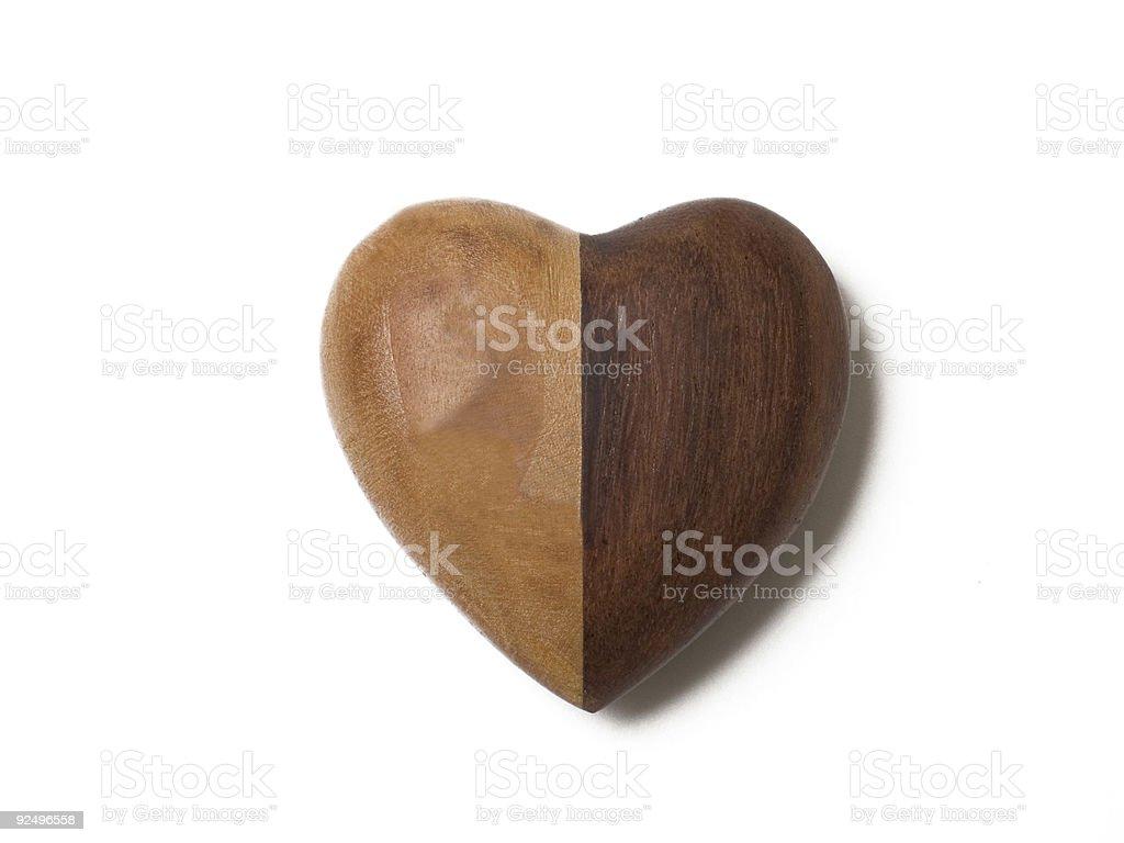 Split Heart royalty-free stock photo
