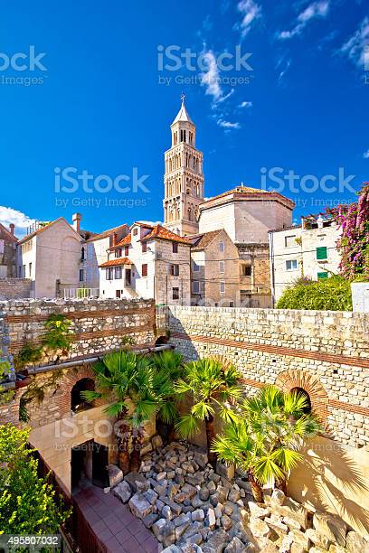 Split historic architecture of Diocletian's palace