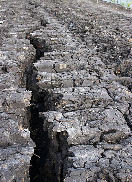 split in earth stock photo
