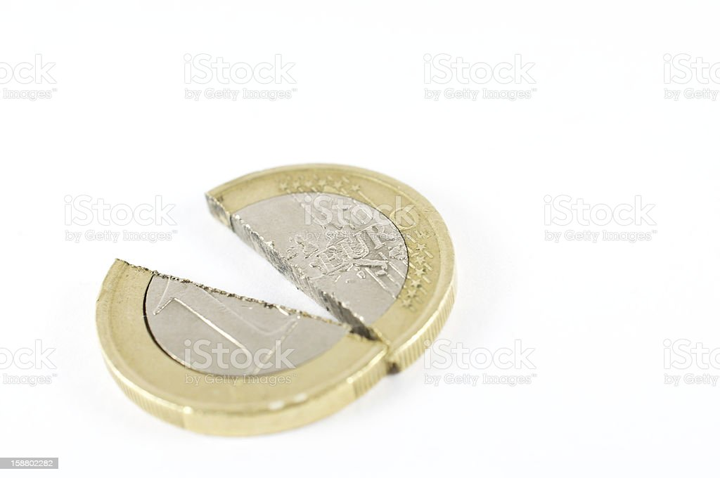 split in the European Community royalty-free stock photo
