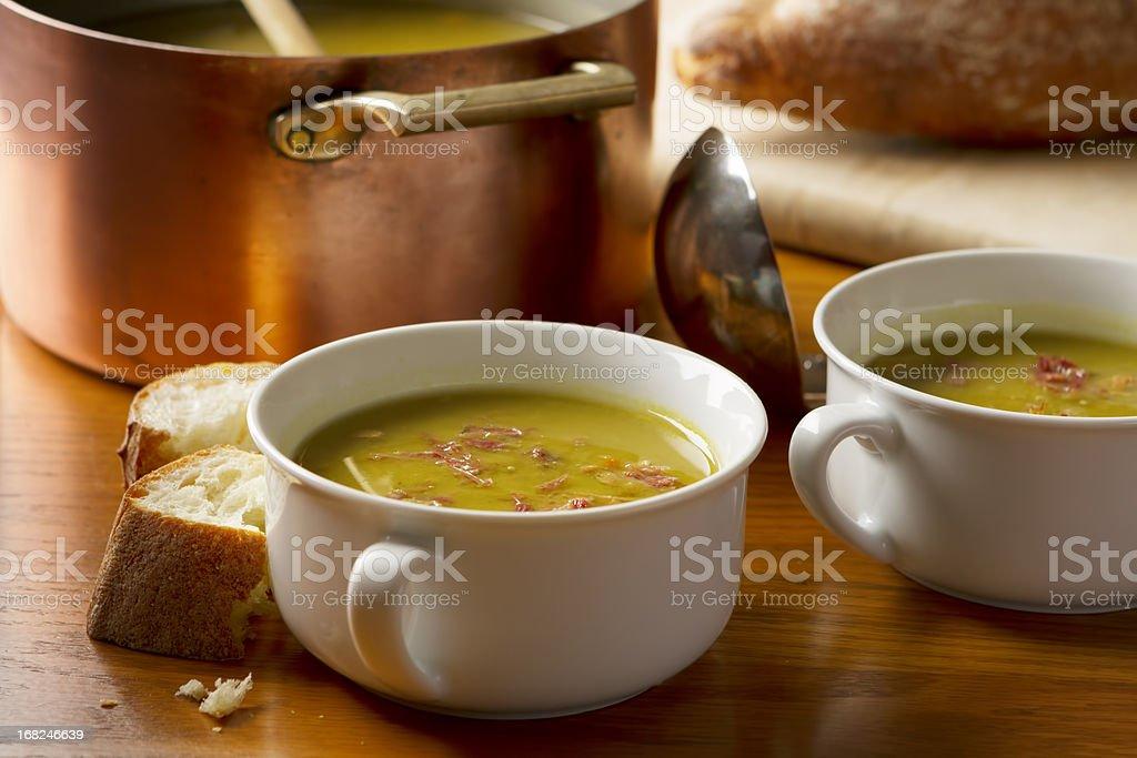 Split Pea and Ham Soup stock photo