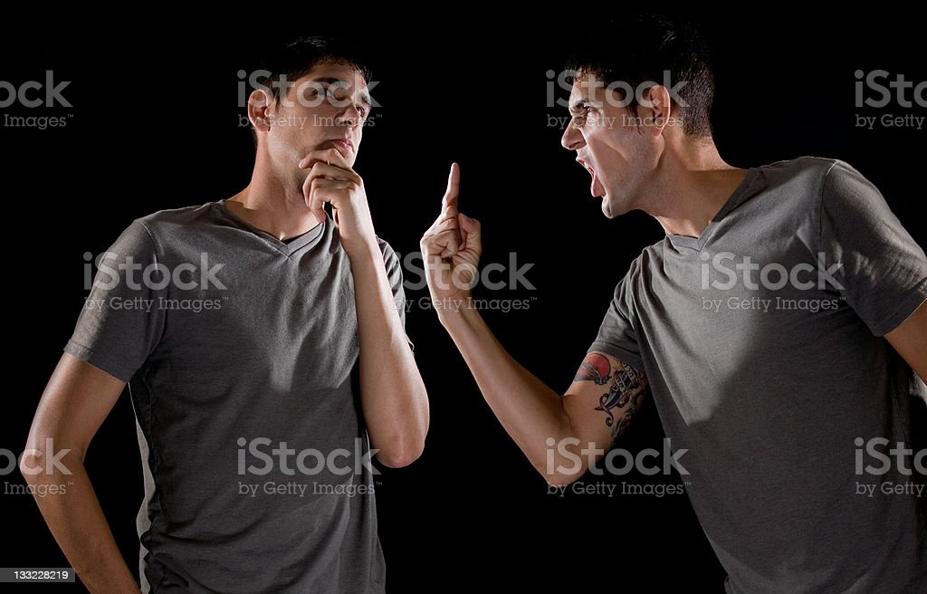 Split personality royalty-free stock photo