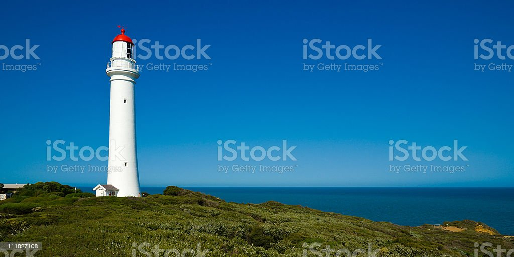 Split Point Lighthouse at Aireys Inlet, Great Ocean Road, Australia stock photo