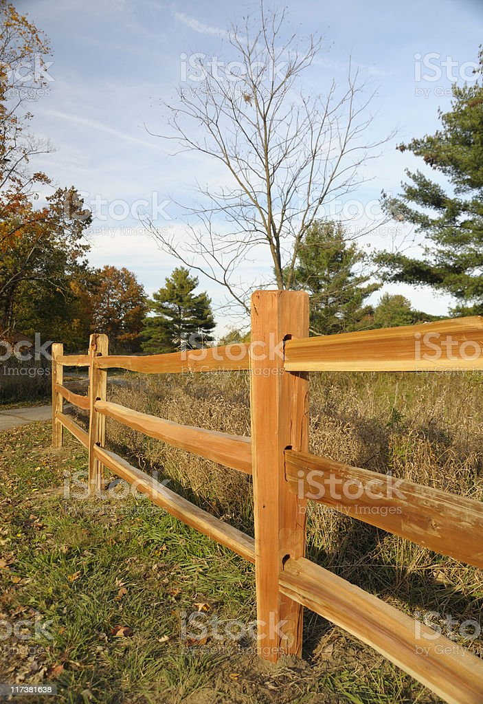 Split Rail Fence stock photo