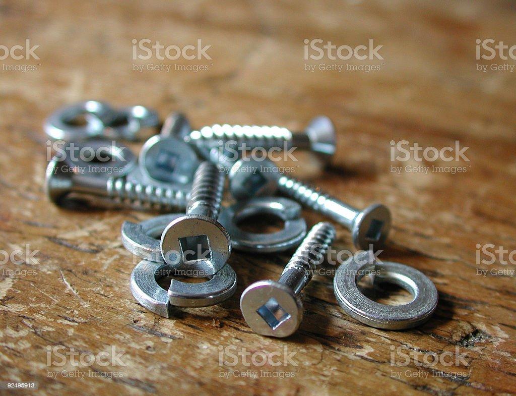 split rings and screws royalty-free stock photo