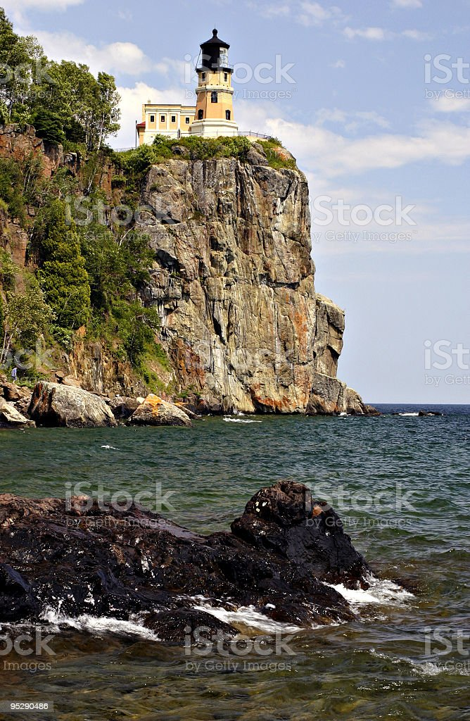 Split Rock Lighthouse, Lake Superior Minnesota stock photo