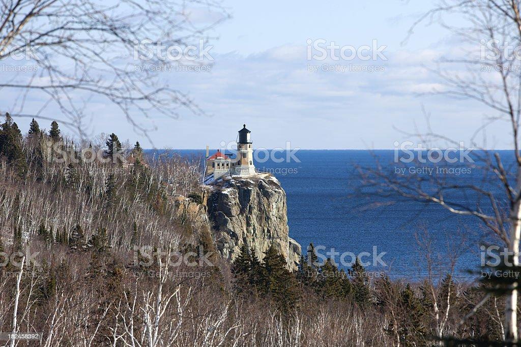 Split rock lighthouse on Minnesota's north shore. royalty-free stock photo