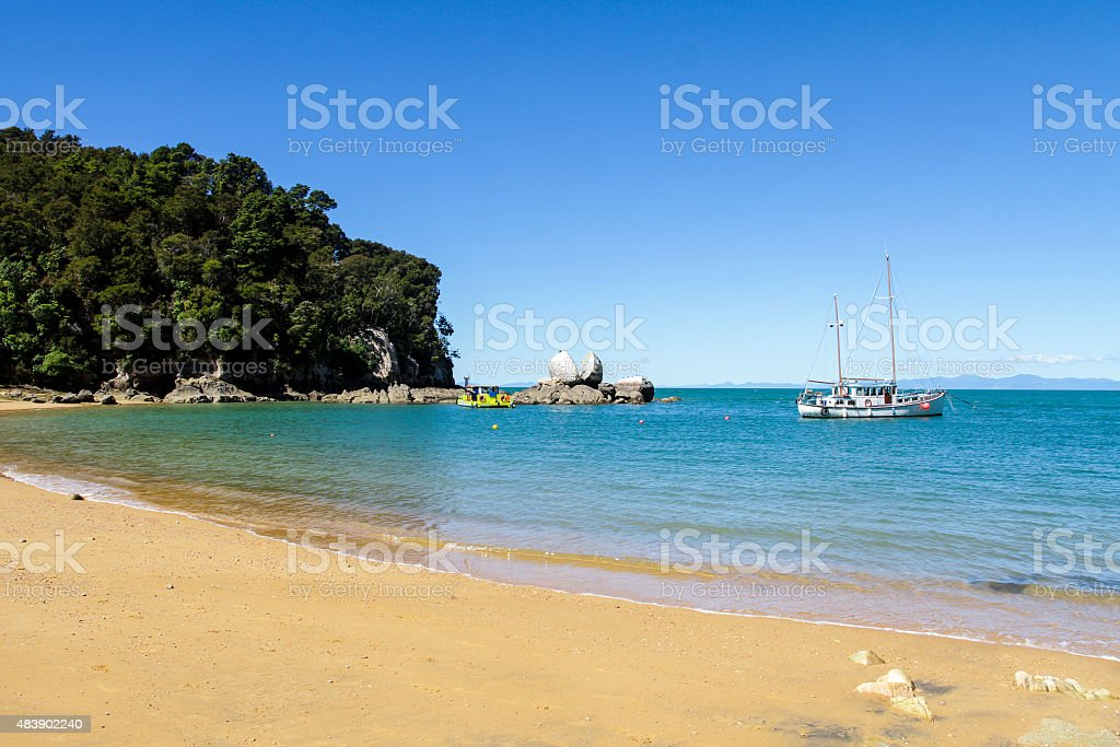 Split Rock New Zealand stock photo