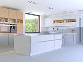 Split Screen - Drawing and Photo of New Kitchen