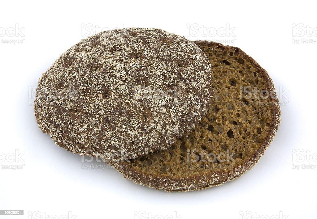 Split thin rye bread stock photo