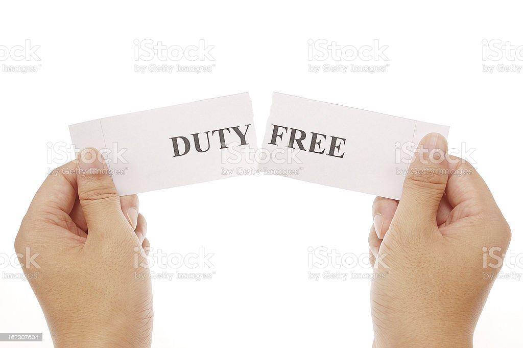 split word dutyfree royalty-free stock photo