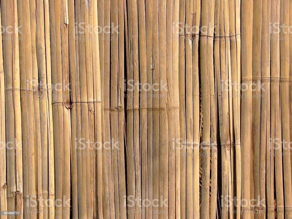 Split-cane fence royalty-free stock photo