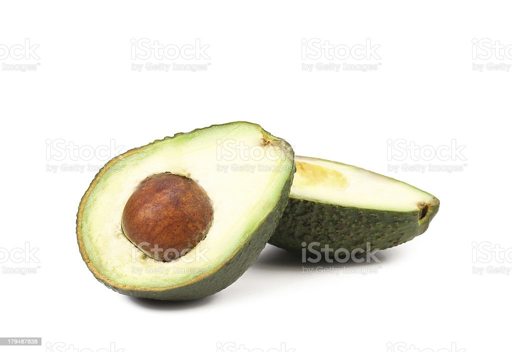 Splitted avocado. royalty-free stock photo