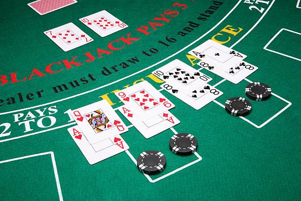 splitting in blackjack - black jack bildbanksfoton och bilder