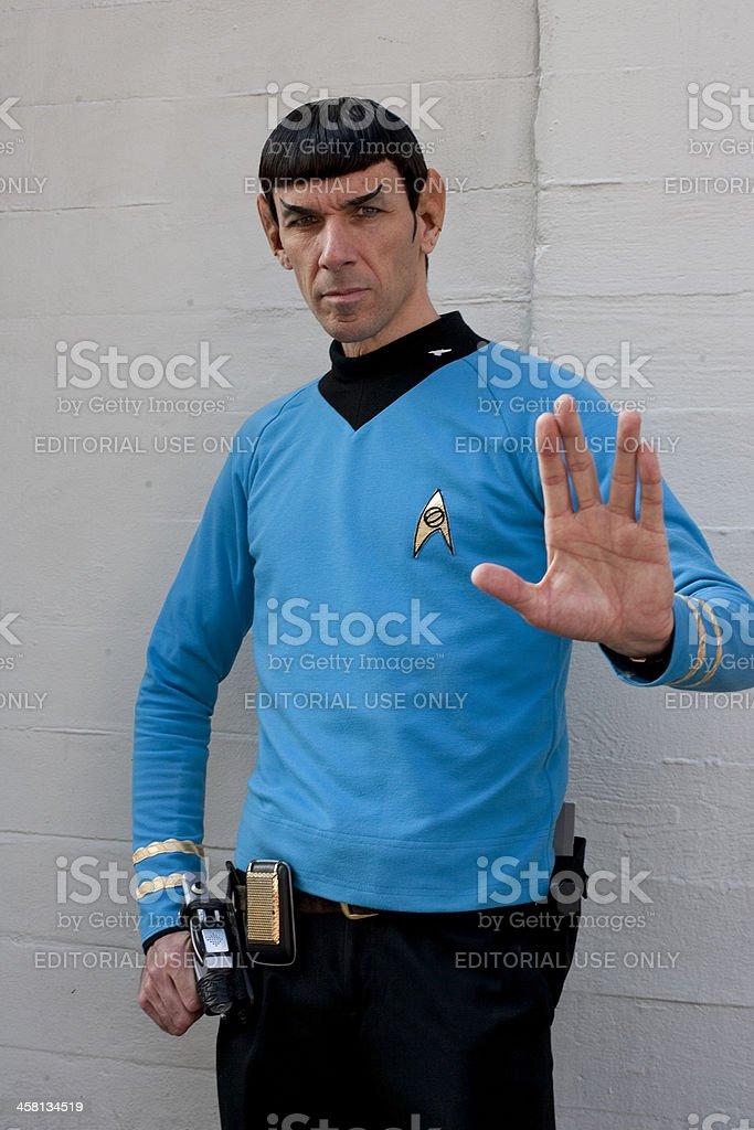 Spock Impersonator stock photo