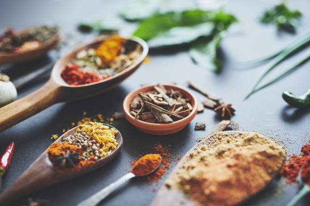 Spoil your tastebuds with our wonderful range of spices Shot of an assortment of spices spice stock pictures, royalty-free photos & images