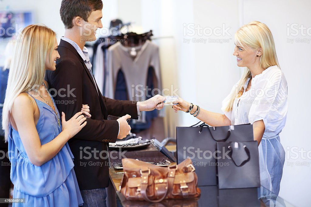 Spoiling her with something nice royalty-free stock photo