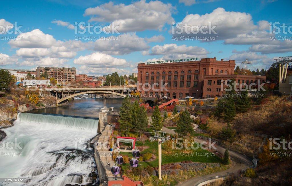 Spokane Falls - Zbiór zdjęć royalty-free (Bez ludzi)