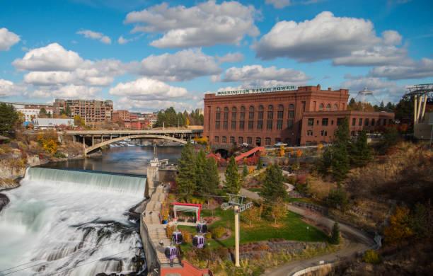 Spokane Falls Spokane Falls washington state stock pictures, royalty-free photos & images