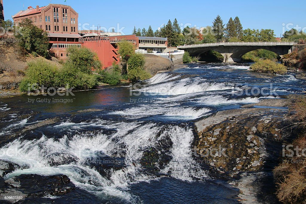 Spokane Falls stock photo