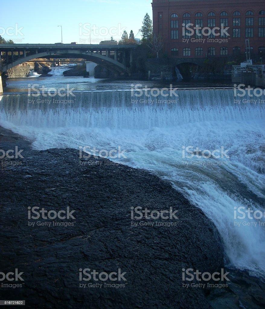 Spokane Falls Washington stock photo