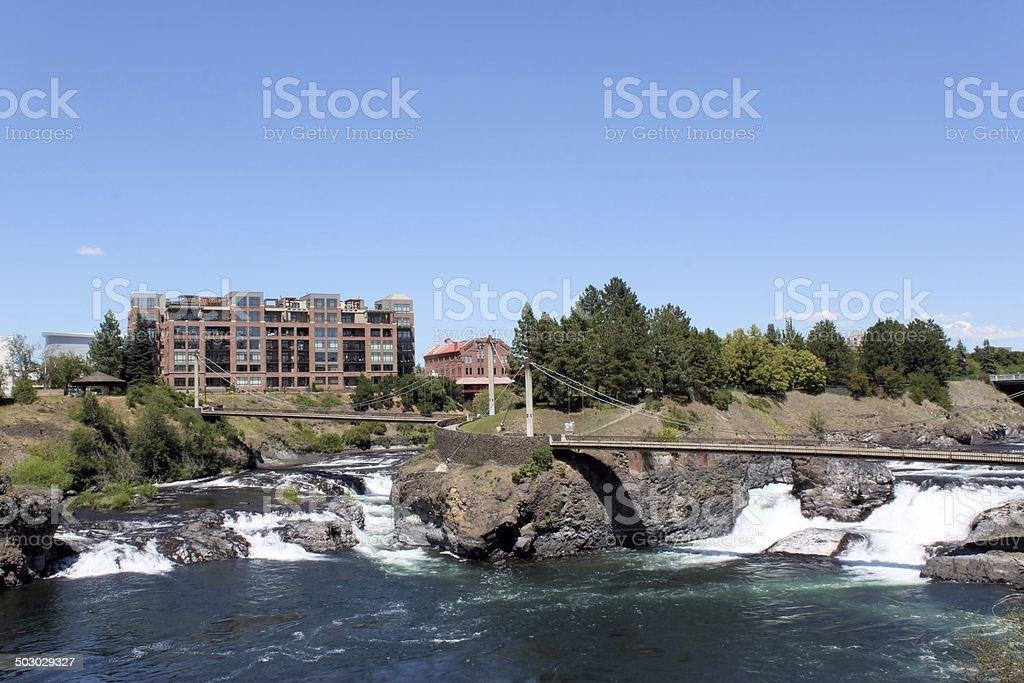 Spokane Washington Falls stock photo
