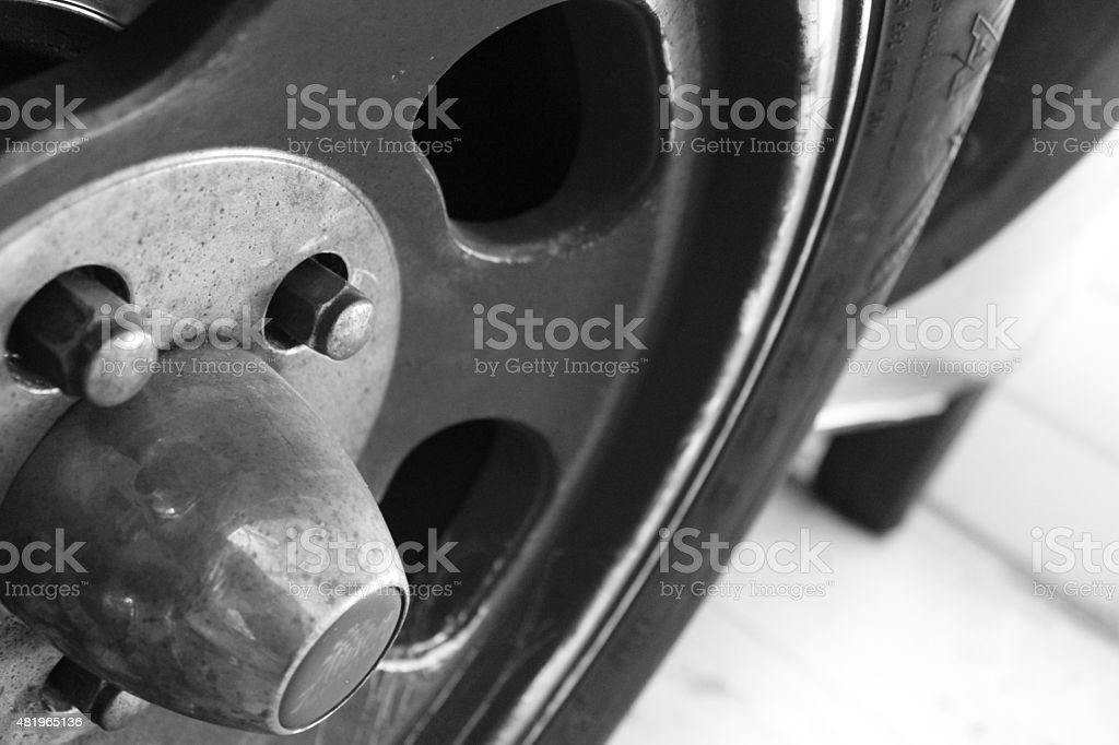 Spokes of a Car Wheel stock photo